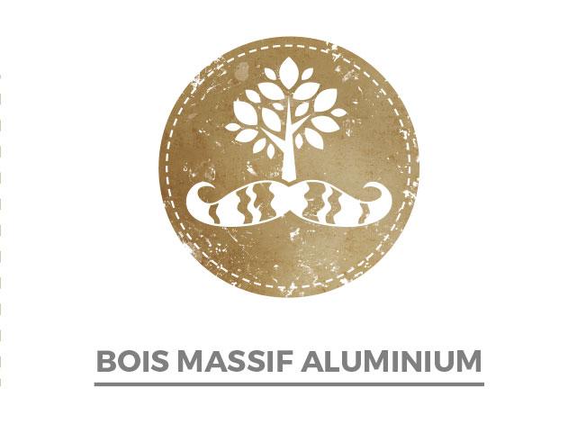 Bois massif & aluminium