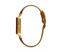 Montre femme en bois de chêne et acier inoxydable rose gold avec son bracelet cuir