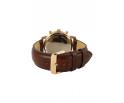 Montre en bois homme en chêne et acier inoxydable rose gold avec son bracelet en cuir