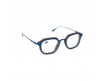 Lunettes optique en bois et titane bleu modèle Zerua de la Eden collection