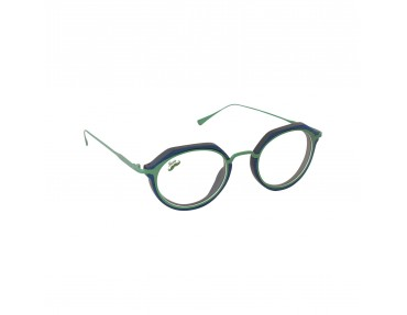 Lunettes optique en bois et titane vert modèle Lorea de la Eden collection