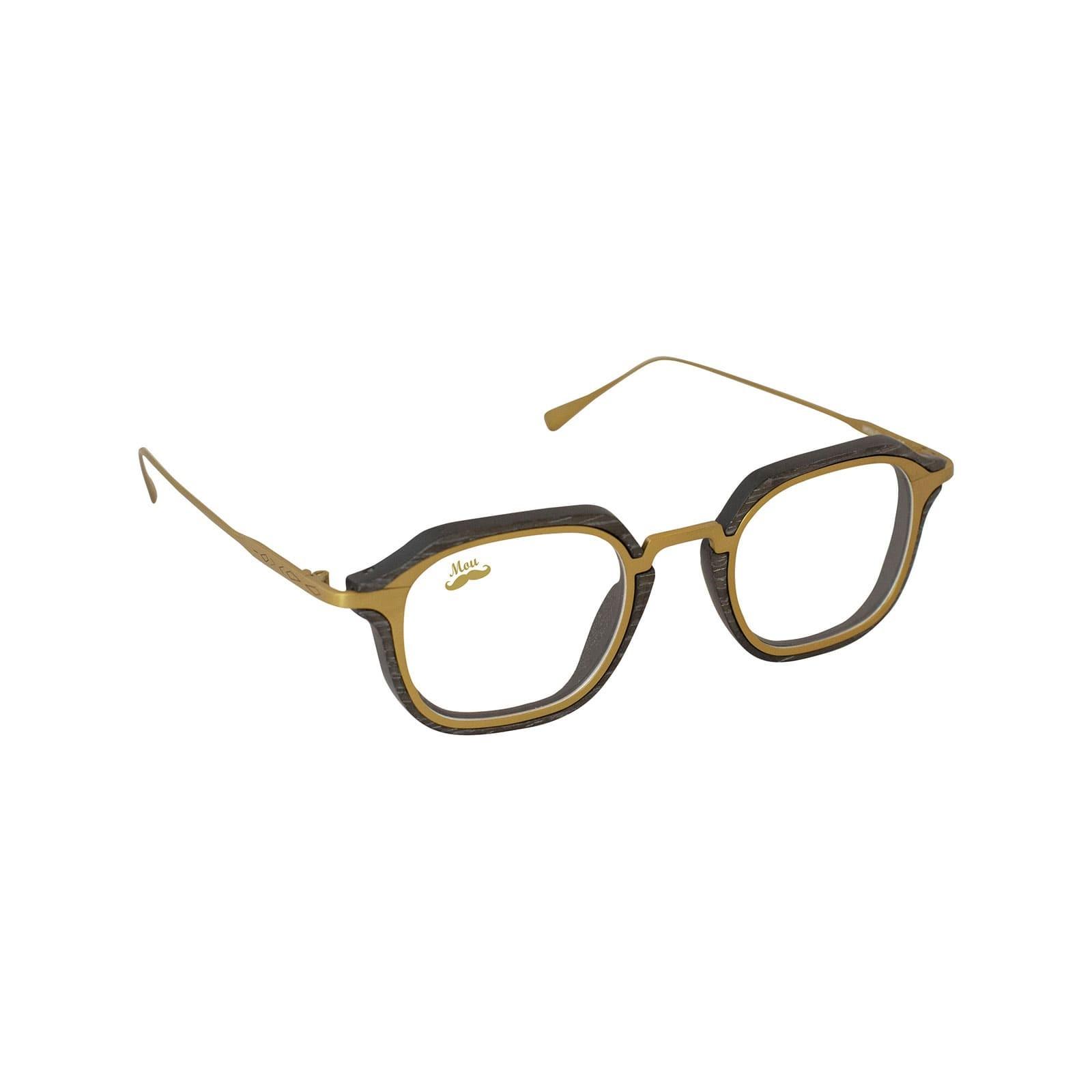 Lunettes en bois et titane doré - modèle optique Zerua EDEN COLLECTION