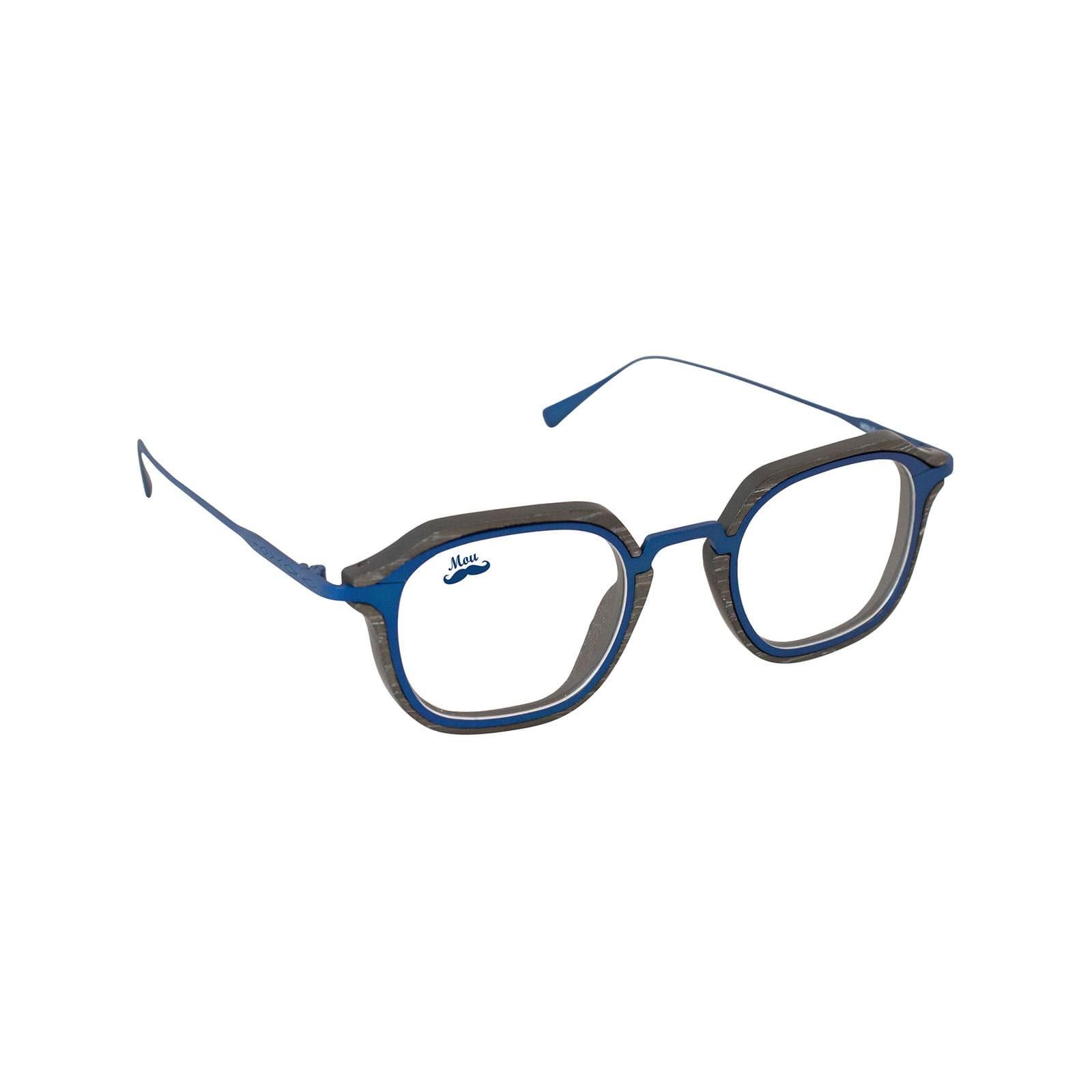 Lunettes en bois et titane bleu - modèle optique Zerua EDEN COLLECTION