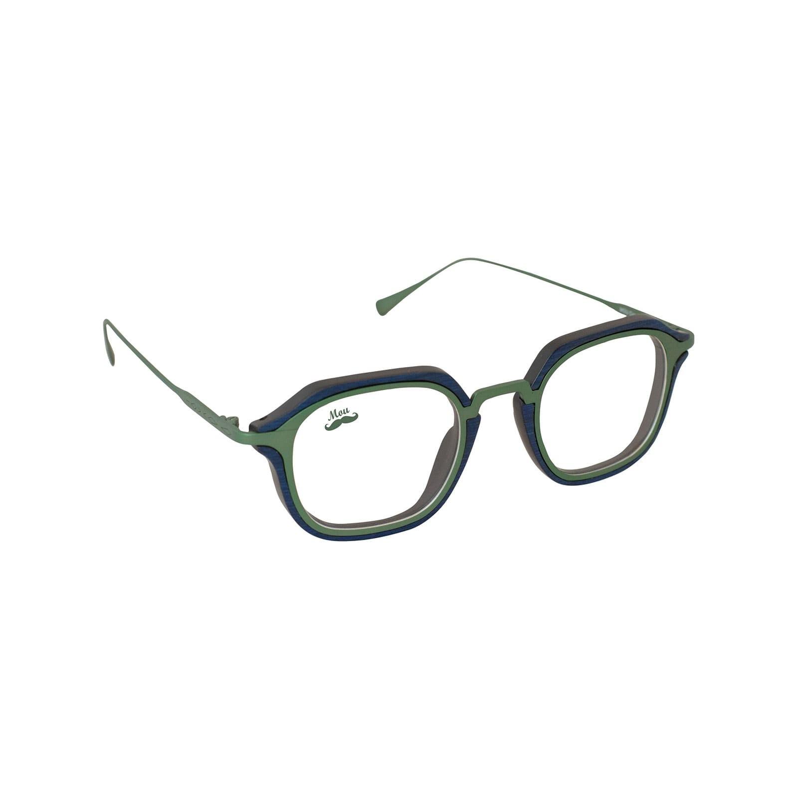 Lunettes en bois et titane vert - modèle optique Zerua EDEN COLLECTION